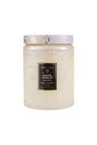 Voluspa Large Glass Jar Candle in Santal Vanille