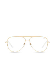 Quay High Key Mini Bluelight Glasses in Gold