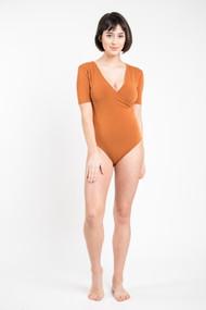 C'est Moi Bamboo Wrap Bodysuit in Ginger