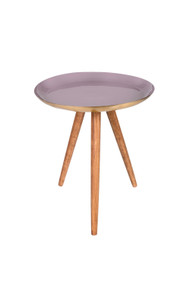 Indaba Henrie Large Enamel + Wood Table