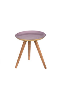 Indaba Henrie Small Enamel + Wood Table