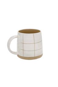 Indaba Sandstone Mug in Check