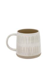 Indaba Sandstone Mug in Lines