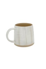 Indaba Sandstone Mug in Stripe