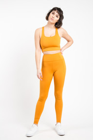 Girlfriend Collective High Rise Legging in Honey