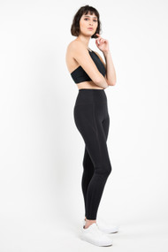 Girlfriend Collective High Rise Legging in Black