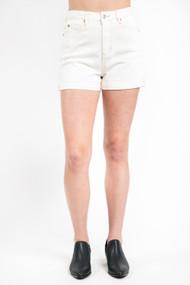 Dex Mom Jean Short in Off White