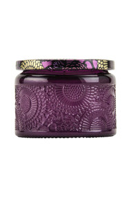 Voluspa Small Embossed Jar Candle in Santiago Huckleberry