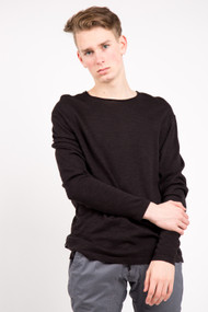 KuwallaTee Slub Knit Tee in Black