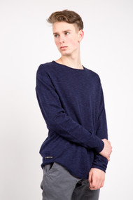 KuwallaTee Slub Knit Tee in Navy