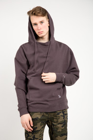 KuwallaTee Mock Neck Hoodie in Charcoal