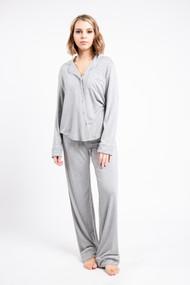 Priv Blushing Sleep Set in Heathered Grey