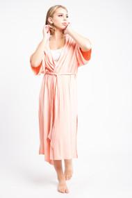 Priv Signature Kimono Robe in Sunset Pink