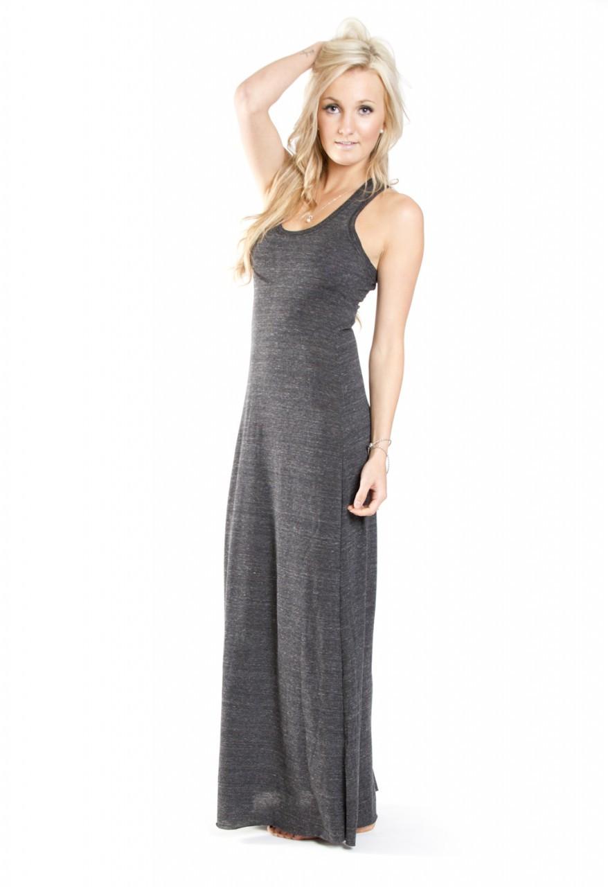 Alternative Apparel Racerback Maxi Dress In Black By