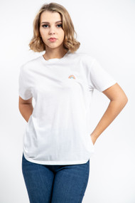 Z Supply Over The Rainbow Tee in White