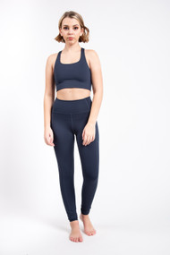 Girlfriend Collective High Rise Pocket Legging in Midnight