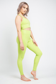 Girlfriend Collective High Rise Legging in Lime