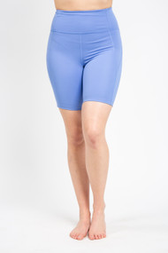 Girlfriend Collective High Rise Bike Short in Periwinkle