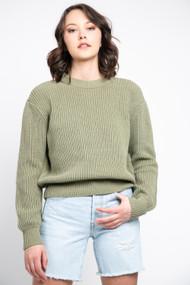 Minimum Mikala Sweater in Oil Green