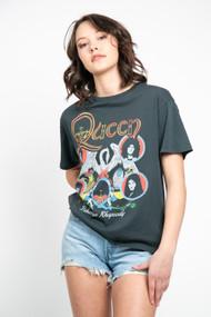 Daydreamer Queen Bohemian Rhapsody Boyrfriend Tee in Vintage Black