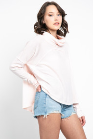 Free People Cozy Time Funnel Neck in Au Natural