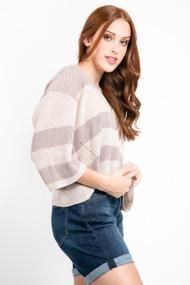 Gentle Fawn Nino Sweater in Heather Oatmeal Stripe