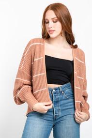 Gentle Fawn Sunrise Cardigan in Light Clay Stripe
