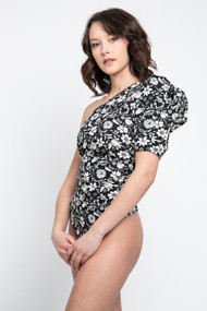 Free People Somethin Bout You Bodysuit in Black