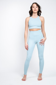 Girlfriend Collective High Rise Legging in Sky