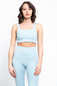 Girlfriend Collective Tommy Bra in Sky