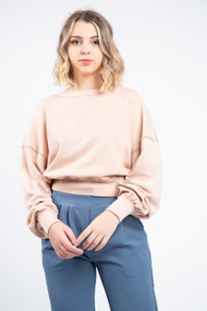 Free People Take Me Back Pullover in Pearl Island