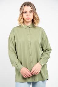 Minimum Koko Shirt in Oil Green