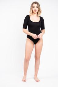 Z Supply Cara Bodysuit in Black