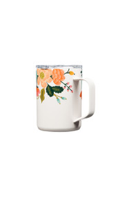 Corkcicle 16oz Mug in Rifle Paper  Co + Lively Floral Gloss Cream