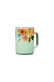 Corkcicle 16oz Mug in Rifle Paper  Co + Lively Floral Gloss Mint