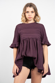 Free People Take a Spin Tunic in Black Honey