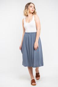 Minimum Regisse Midi Skirt in China Blue