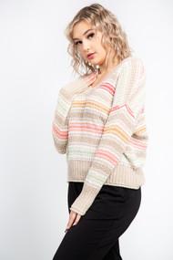 Black Tape Pastel Stripe Sweater