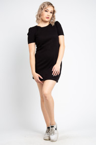 Z Supply Kamryn Puff Sleeve Dress in Black