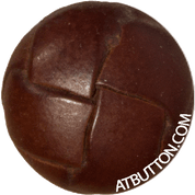 Hand Woven Genuine Leather Button Style #143