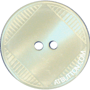 Two Hole Bright White Plastic Button Style#150