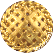 Shank Button in Gold Pie Plated Style#110