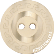 Two Hole Beige Design Plastic Button Style#112