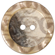 Two Hole Gray, Clear and White Plastic Button Style#155