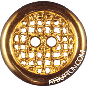Two Hole Gold Metal Button Style#164