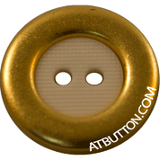 Gold with White Insert Nylon Button Style#200