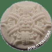 White Plastic Button Style #232