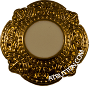 Gold Border Metal Button Style #257