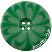 Four Hole Light Green Plastic Button Style #304