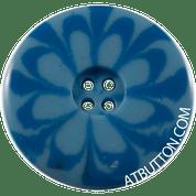 Four Hole Light Blue Button Style #308
